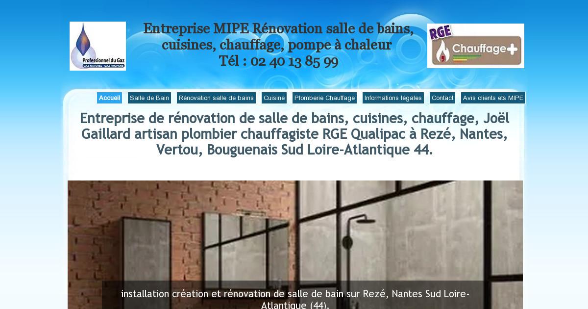 Assurance d cennale plomberie chauffage cuisine et salle for Renovation salle de bain nantes